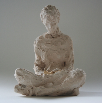 Reader 01, jesmonite, 27cm
