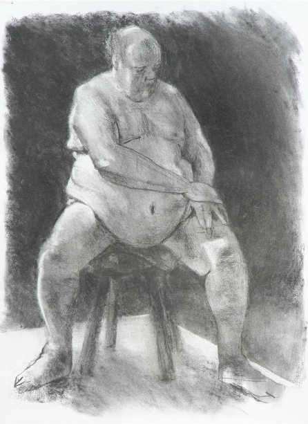 charcoal on paper, 42 x 59.4cm